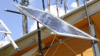 Rotating Solar Panel Mount for Manual Sun Tracking