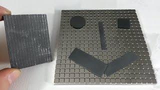 Cut Graphite for Magnetic Levitation Experiments