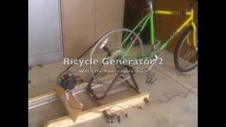 Bicycle Generator to watch TV...and more