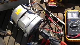 washing machine motor as a generator