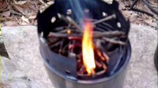 월악산 닷돈재 야영2....Wood gas stove