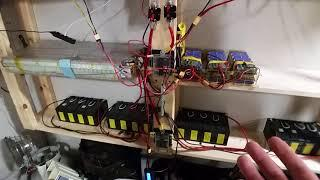 DIY 13kw 18650 Mobius Tesla Powerwall  2.5kw Solar Grid Tie limiter with Battey Backup