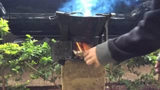 traditional African wood burning stove