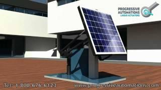 Projects: Solar Tracking System using Linear Actuators - Progressive Automations