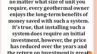 Geothermal Systems Heating & Cooling from the Earth.MP4