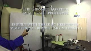 Small Scale Giromill Darrieus  Wind Turbine Prototype