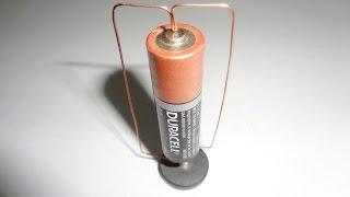 Simple Homopolar Motor With Battery And Magnet And Copper Wire - EHM Projects