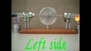 Twin Cylinder Thermo-acoustic Stirling Engine / Lamina Flow ~ JA 321