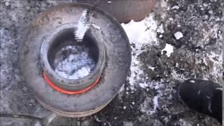 Aluminum melting in homemade propane foundry