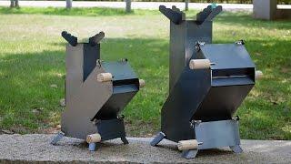 可調式汽門火箭爐 - Rocket stove air flow design.