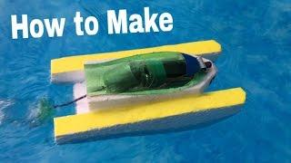 How to Make an Electric Boat - Very Simple and Powerful - Tutorial