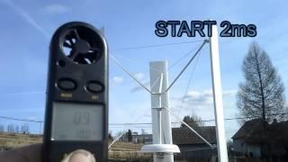 DIY VAWT wind turbine generator 2016