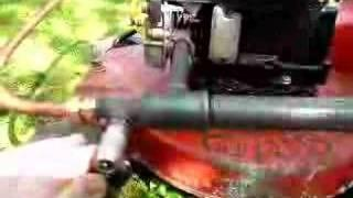 Grasmaaier met geet reactor
