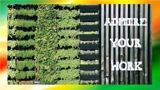 DIY Vertical Wall Garden | How To Build A Vertical Garden With Tips
