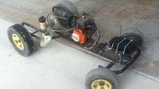 Homemade Weed Eater RC Car | Test Run