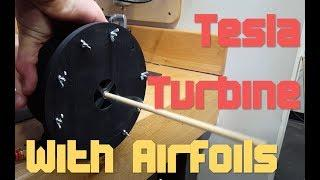 Tesla Turbine [3D Printed + Airfoils for High Torque]