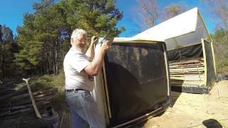 Solar kiln drying lumber for off grid homestead