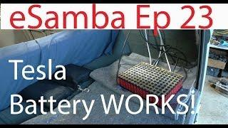 DIY EV conversion eSamba - Recycled Laptop 18650 Battery test