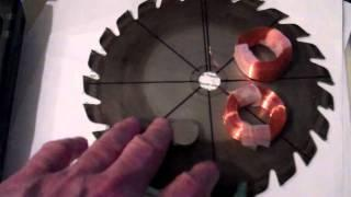 Small 6 coil, 8 magnet  3 phase axial flux alternator project- Part 1 .mp4