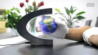 3 inch Desk Toy C Shape Magnetic Levitation Floating Globe World Map Gift