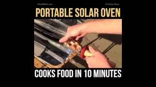 Portable Solar Oven   Cooks Food In 10 Minutes