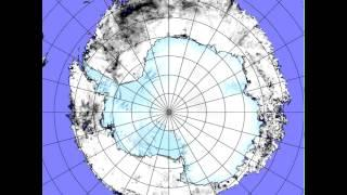Antarctic Sea Ice Growth Time Lapse from AMSRE 2002-2007
