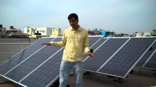 3KW Solar rooftop plant : Bangalore