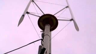 DIY vawt wind generator test - 8ms