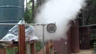 Tesla Turbine Spooling up on 20kW Steam.wmv