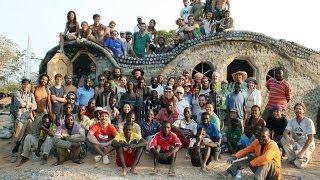 Malawi Flower Design Earthship Full Timelapse