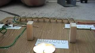 50,000 Volt Marx generator -=effects on a candle=-