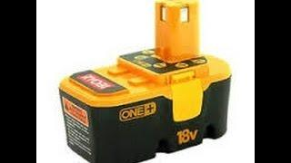 How to charge A DEAD Ryobi 18 volt rechargeable battery! IT WORKS!!