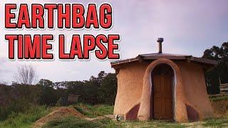 SuperAdobe Earthbag Tiny House Construction Time Lapse