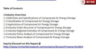2015 Global Compressed Air Energy Storage Industry Research Report & 2020 Forecast