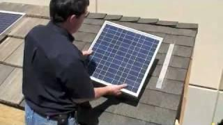 DIY SOLAR PANEL INSTALL SHINGLE ROOF FREE POWER HIGH POWERED SOLAR SYSTEM