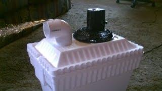 Homemade AC Air Cooler DIY - Can be Solar Powered! - Home/Auto Air cooler 40F Air! - 12VDC Fan