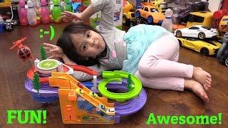 TOYS: Cars and Helicopter Motorized Play Set and an RC Tractor Truck Playtime + Sportbike Ride