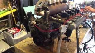 Compressed Air 4 Cylinder Made From Chevy Engine Block