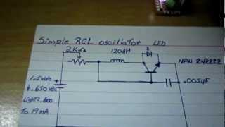 Simple RCL oscillator  (Joule Thief variant)