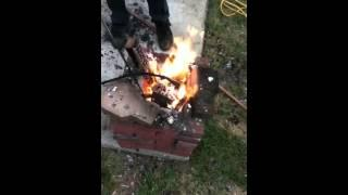 Homemade Aluminum Foundry part 1