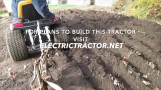#4 The Little Electric Tractor  That Can!   Ploughing Veggie Garden