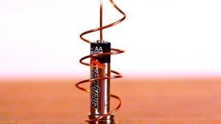 How to Make a Homopolar Motor - Best Science Fair Project!