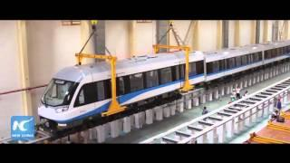 China's first domestically manufactured magnetic levitation train begins trial run