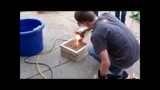 DIY Electric Arc Furnace Melting Copper and Iron
