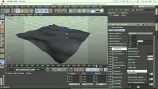 C4D Tutorial: How to make an Ocean, Waves or Water