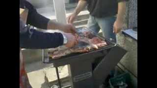 """Rocket stove / BBQ """"in Action"""""""