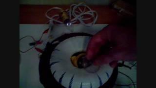 Bedini Rodin Motor and Rodin Coil Generator 100VAC
