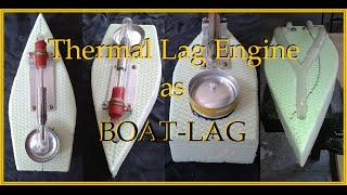 Stirling engine boat (thermal lag fluidyne)
