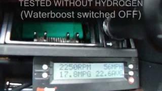 Waterboost MPG TEST HHO Proof of 100% gains