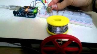 DC Motor PWM Speed Control and LED RPM Gauge with Arduino UNO R3